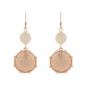Mocha Womens You Are Strong Earrings - Rose Gold outfits CZIBJUD -