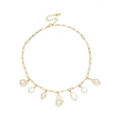 David Lawrence Women's Pearl Charm Drop Necklace outfits MMJMDYL -
