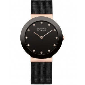 Bering Womens 11435-166 Ladies Ceramic Collection Watch Black LNMHCTY -