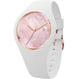 ICE-Watch Womens Ice Pearl White Pink Small Watch Trends EYSTANQ -