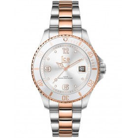 ICE-Watch Womens Ice Steel Silver Rose Gold Small Watch comfortable ROLTQOO -