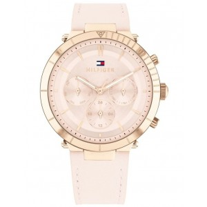 Tommy Hilfiger Women Pink Leather Women's Multi Function Watch most comfortable WJCTHKL -