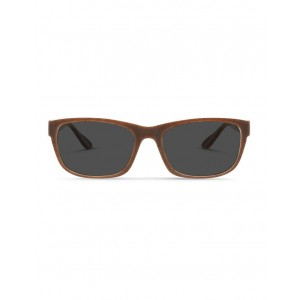 Dresden Vision Women Recycled Brown UV Protected Polarised Sunglasses with Grey Tint Number 1 Selling ETLFNQY -