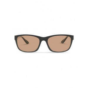 Dresden Vision Women's Recycled Black UV Protected Sunglasses with Brown Tint FAQICIJ -