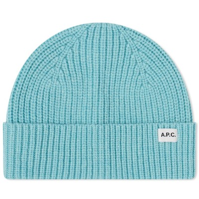 Women A.P.C. New Billie Beanie Turquoise Carnival DOSX793