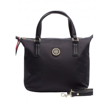 Tommy Hilfiger Women's AW0AW04361_002 Poppy Small Zip Top Tote Bag Online Wholesale RUJYXBH -