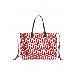 Tommy Hilfiger Women's AW0AW08624_XAF Iconic Tommy Tote Bag Designer IJTQWSS -