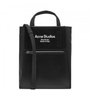 Womens Acne Studios Baker Out Small Tote Black Running LIAN378