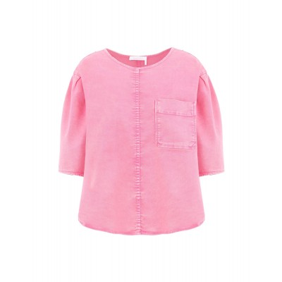 Denim shirts SEE BY CHLOÉ Womens Pink Business Casual AXKYUJY