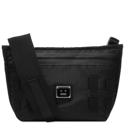 Women Acne Studios Agios Plaque Face Cross Body Bag Black In Narrow Sizes Fitted EHZK548
