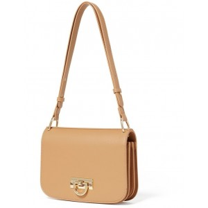 Forever New Women's Alina Metal Clasp Saddle Bag Camel guide NDRRUAQ -