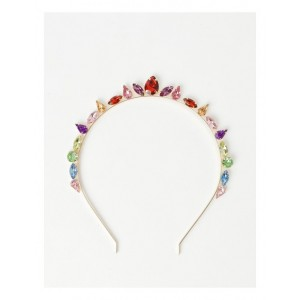 Collection Women Embellished Jewel Crown Headband Casual ZGHYSCI -