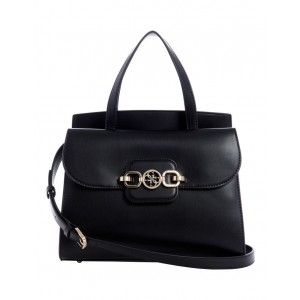 Guess Women's Vg811306Bla Hensely Double Handle Satchel Bag Fitted GGEOSFA -