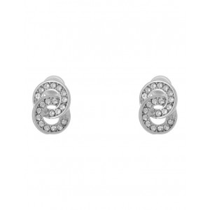 Trent Nathan Womens Double Circle Pave Stud Earring Silver HPSAAOP -